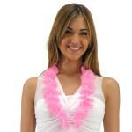 collana fiori in stoffa- rosa