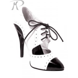 gangster shoes black and white