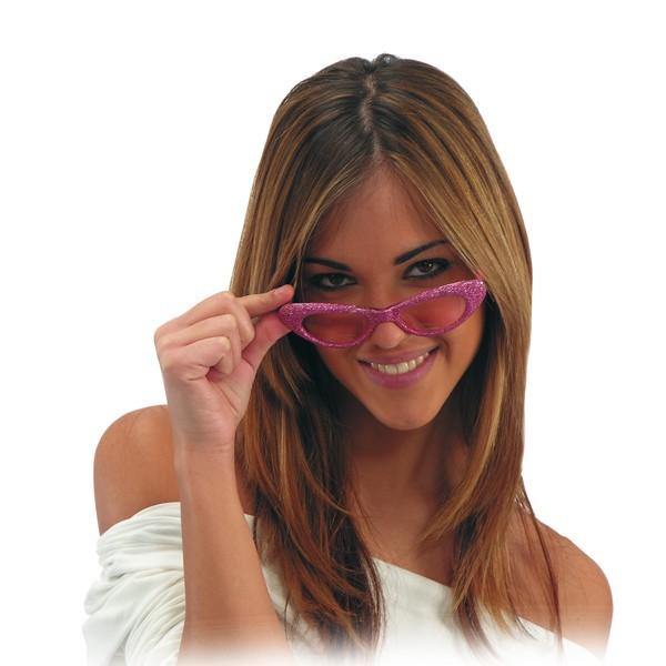 occhiali rosa glitter