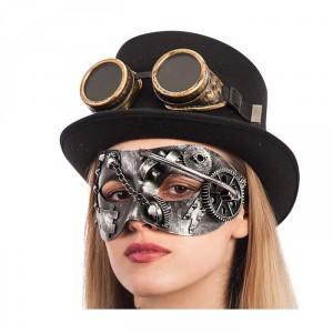 Maschera steampunk in rame