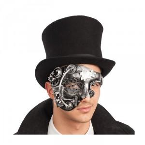 Maschera steampunk mezzo viso uomo