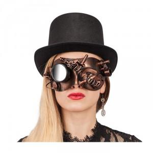 Maschera steampunk rame occhi donna