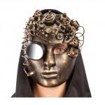 Maschera steampunk oro viso donna