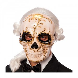 maschera teschio in cartapesta